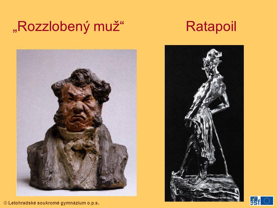 """© Letohradské soukromé gymnázium o.p.s. """"Rozzlobený muž"""" Ratapoil"""