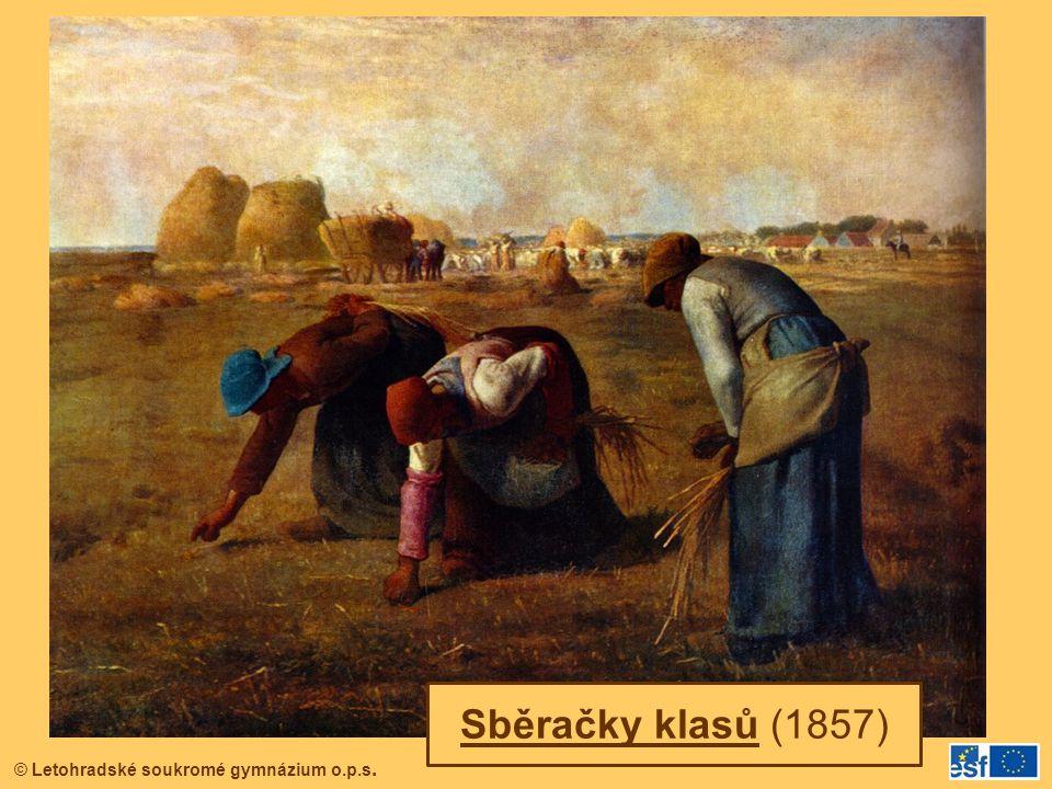 © Letohradské soukromé gymnázium o.p.s. Sběračky klasů (1857)
