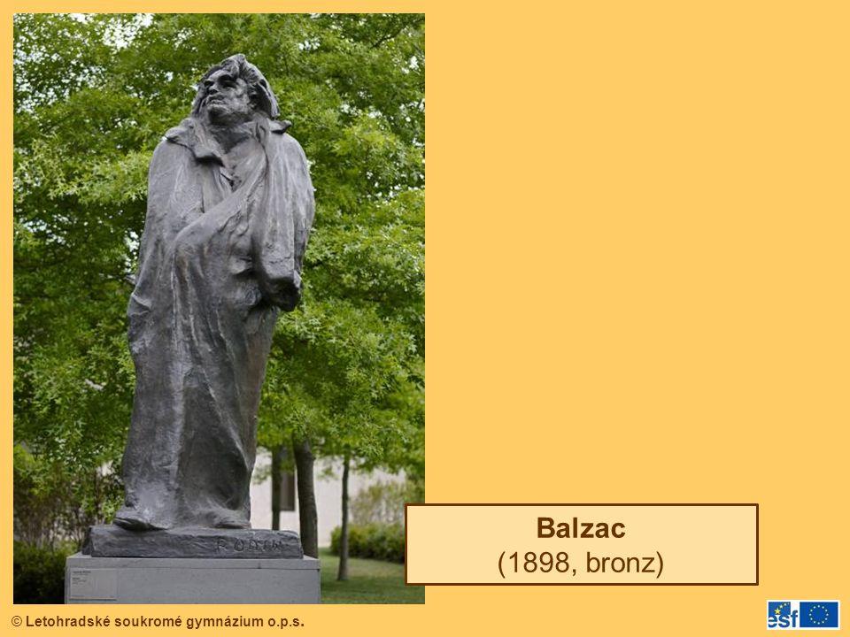 © Letohradské soukromé gymnázium o.p.s. Balzac (1898, bronz)