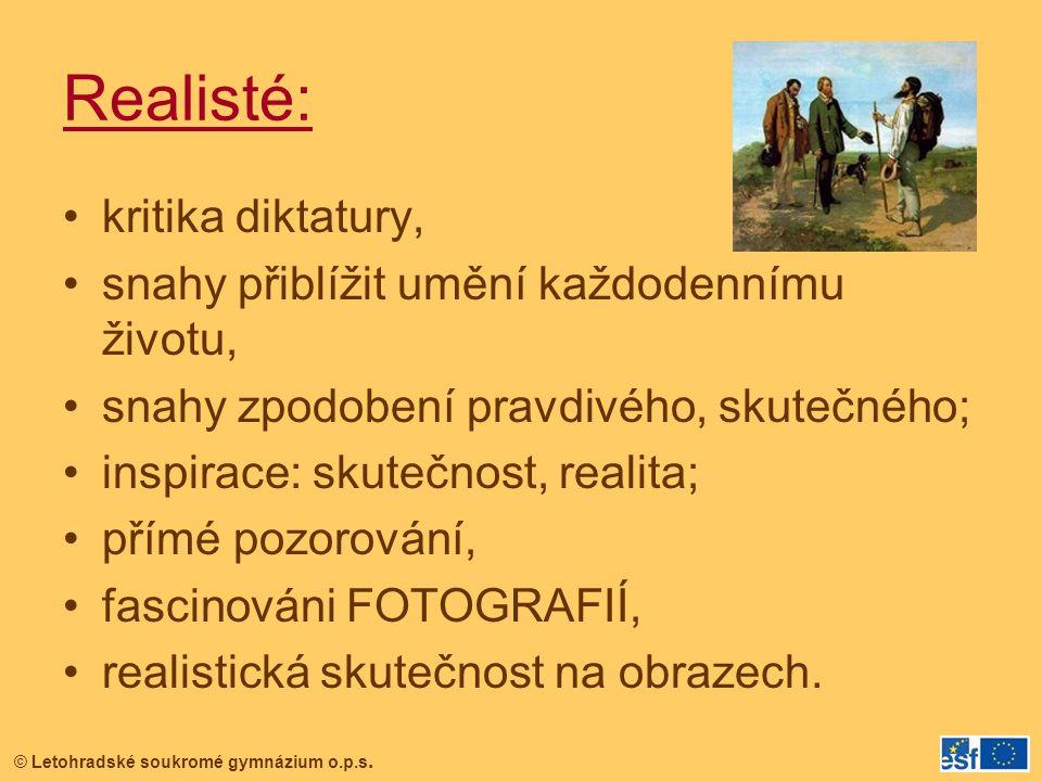 © Letohradské soukromé gymnázium o.p.s.BARBIZONSKÁ ŠKOLA tzv.