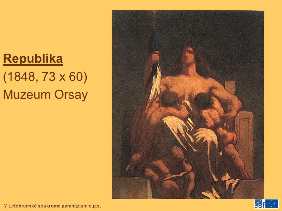 © Letohradské soukromé gymnázium o.p.s. Republika (1848, 73 x 60) Muzeum Orsay