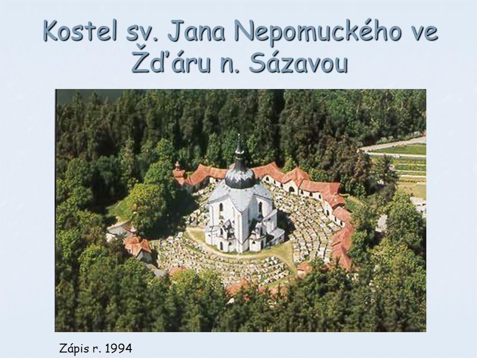 Kostel sv. Jana Nepomuckého ve Žďáru n. Sázavou Zápis r. 1994