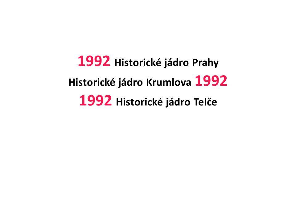 ČESKÝ KRUMLOV - 1992 Jižní Čechy Městská zástavba z 16.