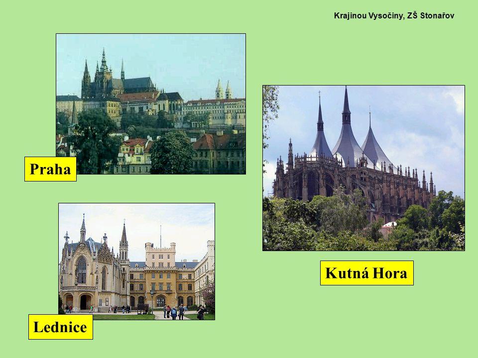 Krajinou Vysočiny, ZŠ Stonařov Praha Kutná Hora Lednice