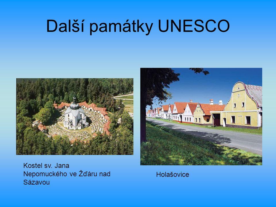Další památky UNESCO Kostel sv. Jana Nepomuckého ve Žďáru nad Sázavou Holašovice