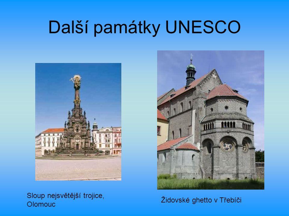 Další památky UNESCO Sloup nejsvětější trojice, Olomouc Židovské ghetto v Třebíči