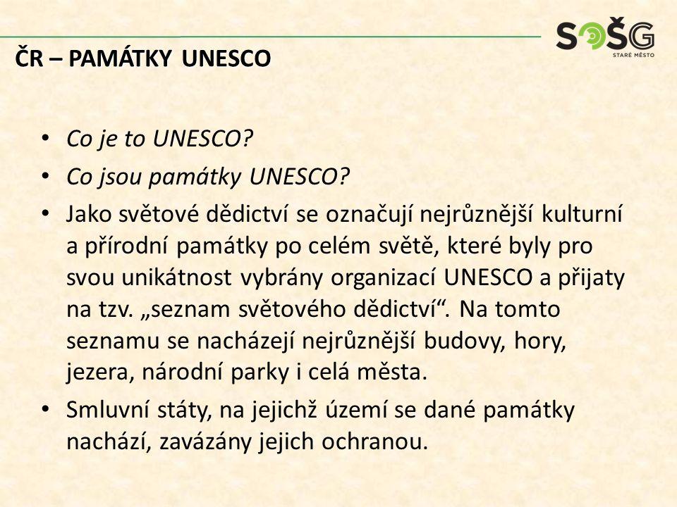 Co je to UNESCO? Co jsou památky UNESCO? Jako světové dědictví se označují nejrůznější kulturní a přírodní památky po celém světě, které byly pro svou