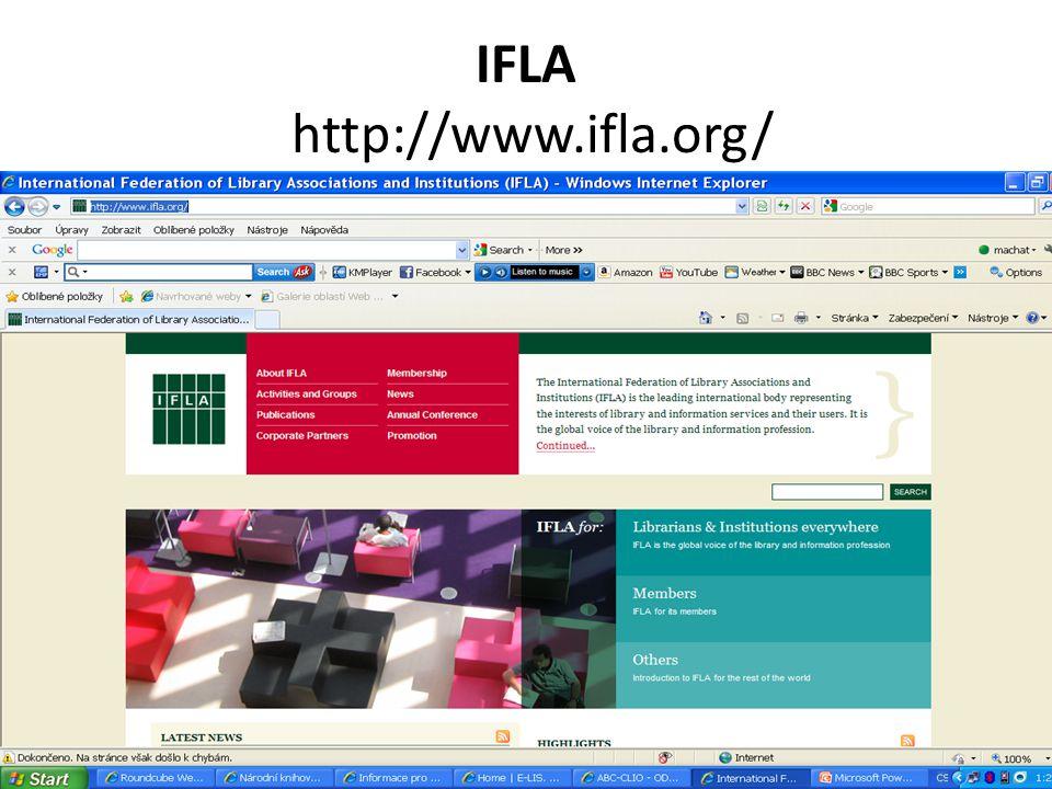 IFLA http://www.ifla.org/