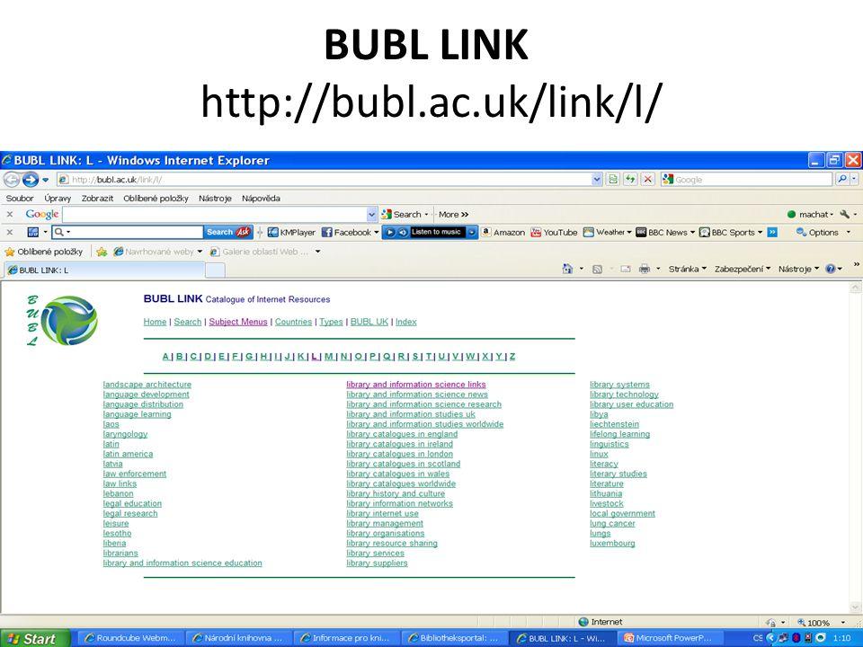 BUBL LINK http://bubl.ac.uk/link/l/
