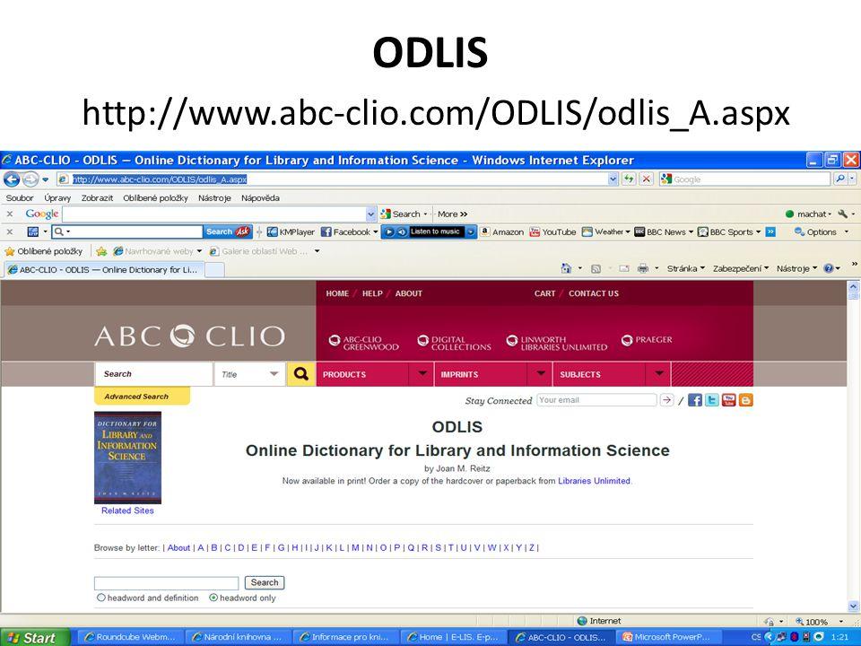 ODLIS http://www.abc-clio.com/ODLIS/odlis_A.aspx