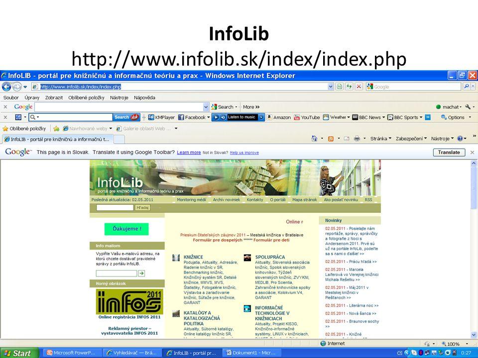 InfoLib http://www.infolib.sk/index/index.php