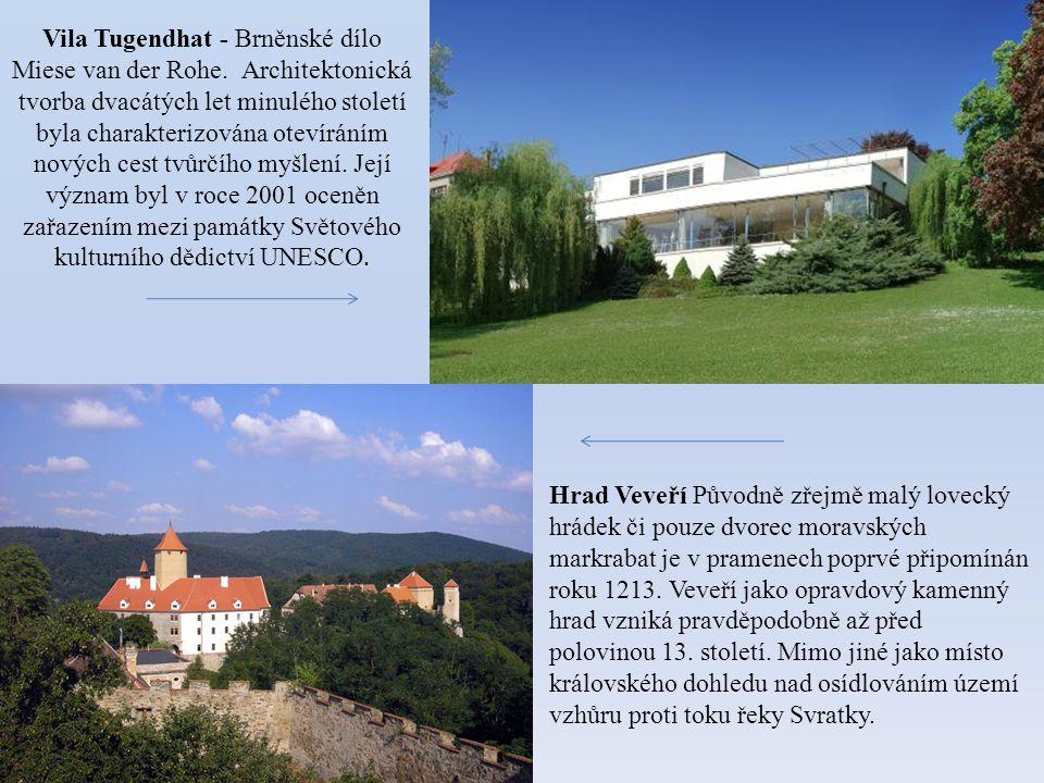 Vila Tugendhat - Brněnské dílo Miese van der Rohe. Architektonická tvorba dvacátých let minulého století byla charakterizována otevíráním nových cest