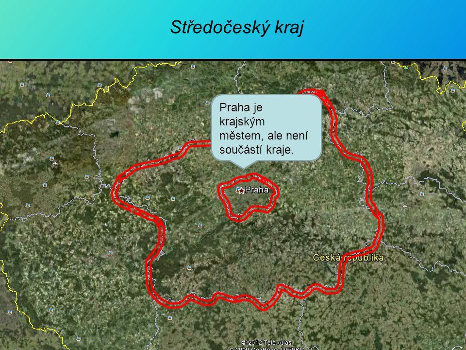 Středočeský kraj Praha je krajským městem, ale není součástí kraje.