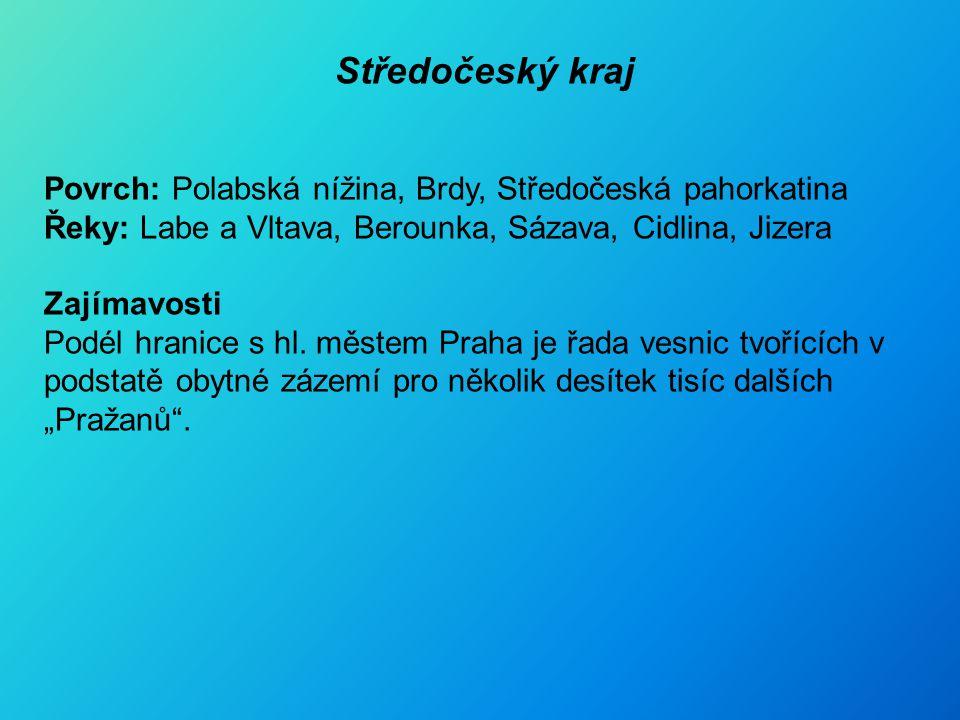 Středočeský kraj - města Benešov Beroun Kladno Kolín Kutná Hora M. Boleslav
