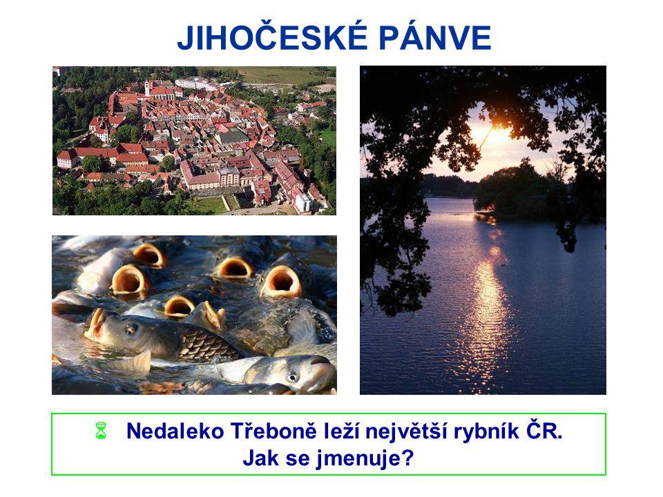 JIHOČESKÉ PÁNVE  Nedaleko Třeboně leží největší rybník ČR. Jak se jmenuje? Třeboň