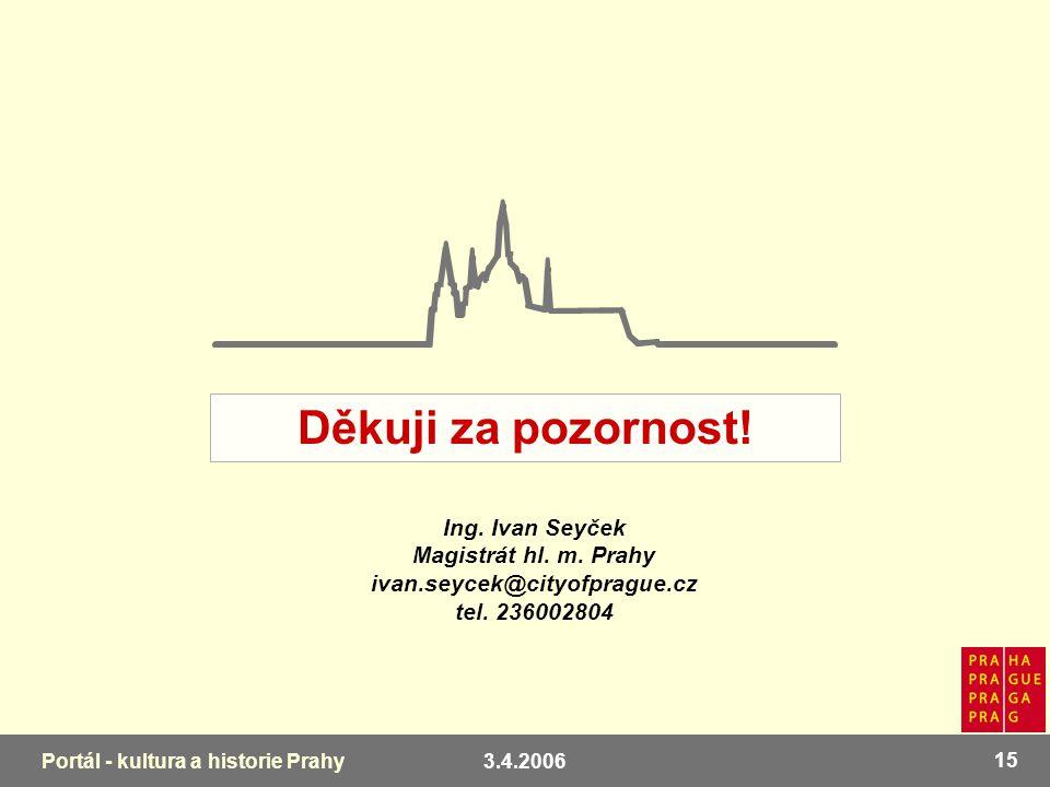 3.4.2006 15 Portál - kultura a historie Prahy Ing.