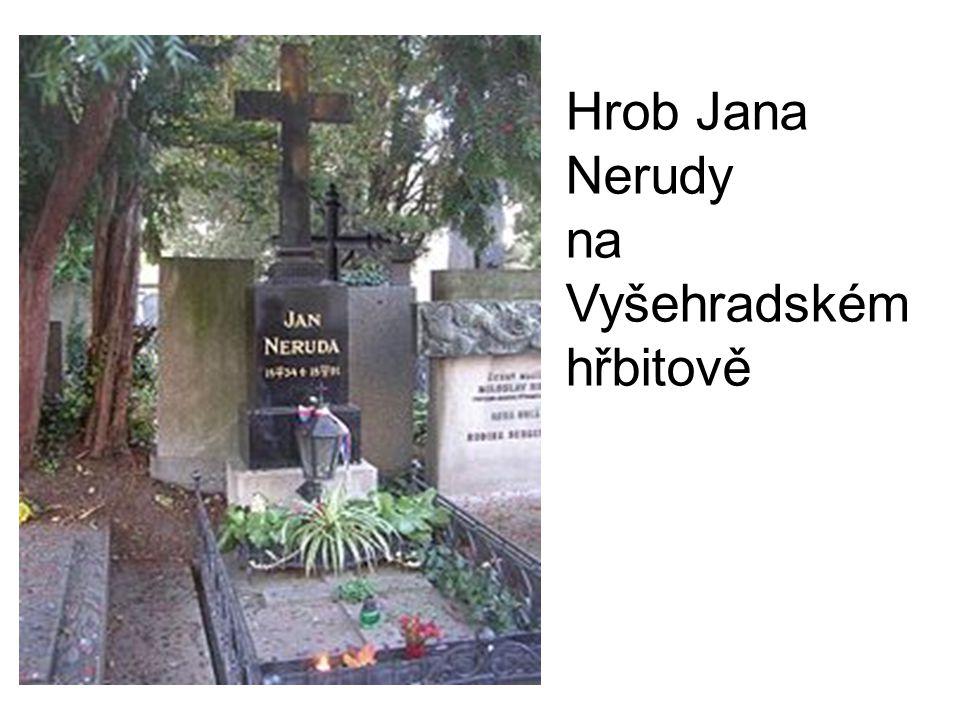 Hrob Jana Nerudy na Vyšehradském hřbitově