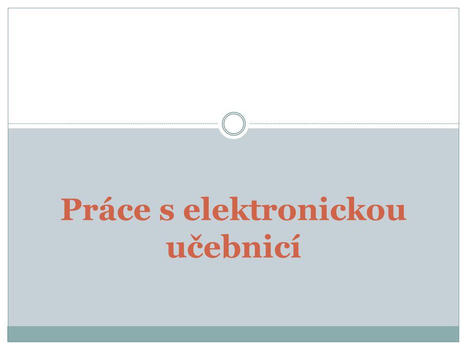 Práce s elektronickou učebnicí