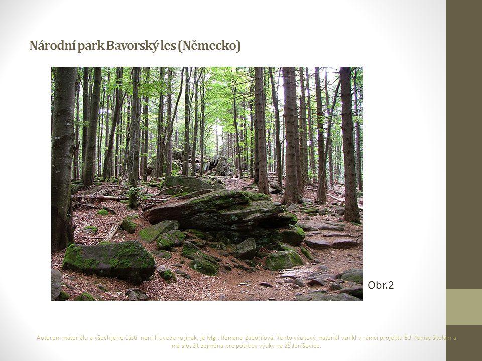 Národní park Bavorský les (Německo) Autorem materiálu a všech jeho částí, není-li uvedeno jinak, je Mgr. Romana Zabořilová. Tento výukový materiál vzn