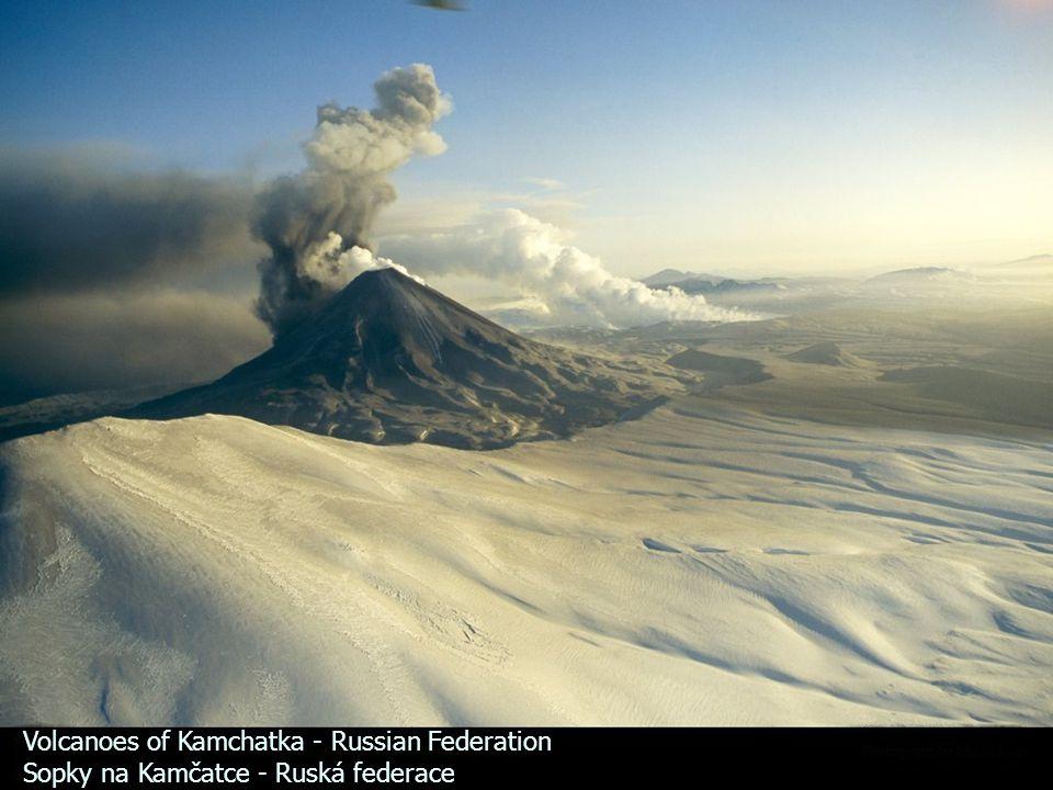 Volcanoes of Kamchatka - Russian Federation Sopky na Kamčatce - Ruská federace
