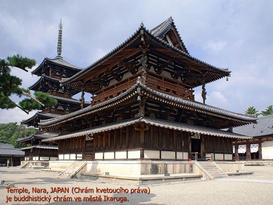 Temple, Nara, JAPAN (Chrám kvetoucího práva) je buddhistický chrám ve městě Ikaruga.
