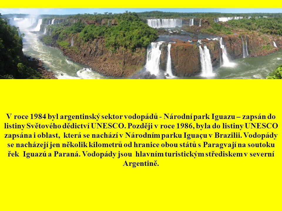 Iguaçu objevili španělští dobyvatelé pod vedením Alvara Nuneze Cabeza de Vaca, když při své druhé cestě do Ameriky v roce 1540 zkoumal vodní cesty avo