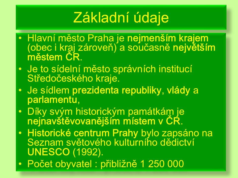 Hlavní město Praha je nejmenším krajem (obec i kraj zároveň) a současně největším městem ČR.