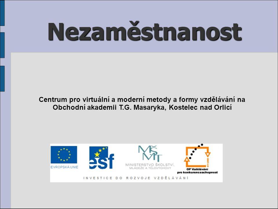 Nezaměstnanost Centrum pro virtuální a moderní metody a formy vzdělávání na Obchodní akademii T.G.