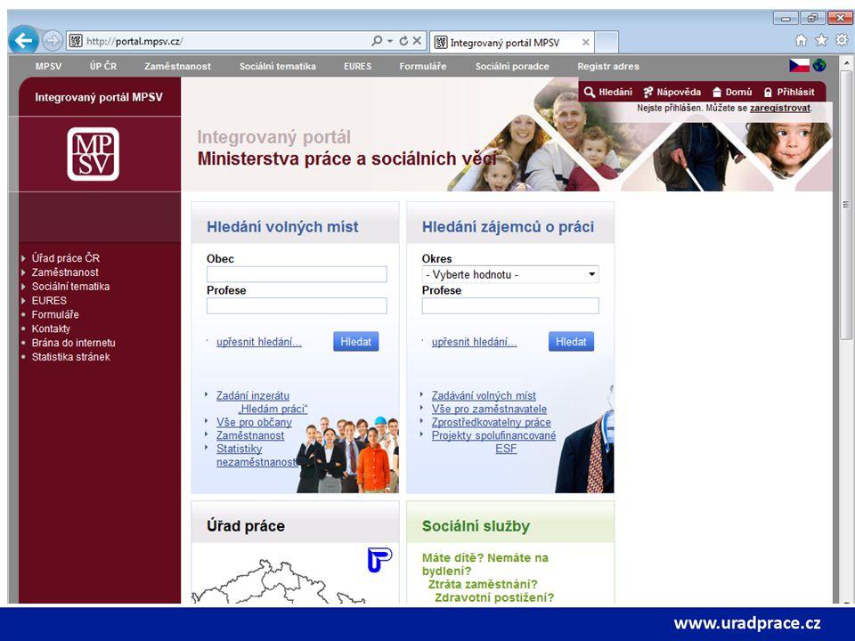 Integrovaný internetový portál MPSV Základní informace a možnosti