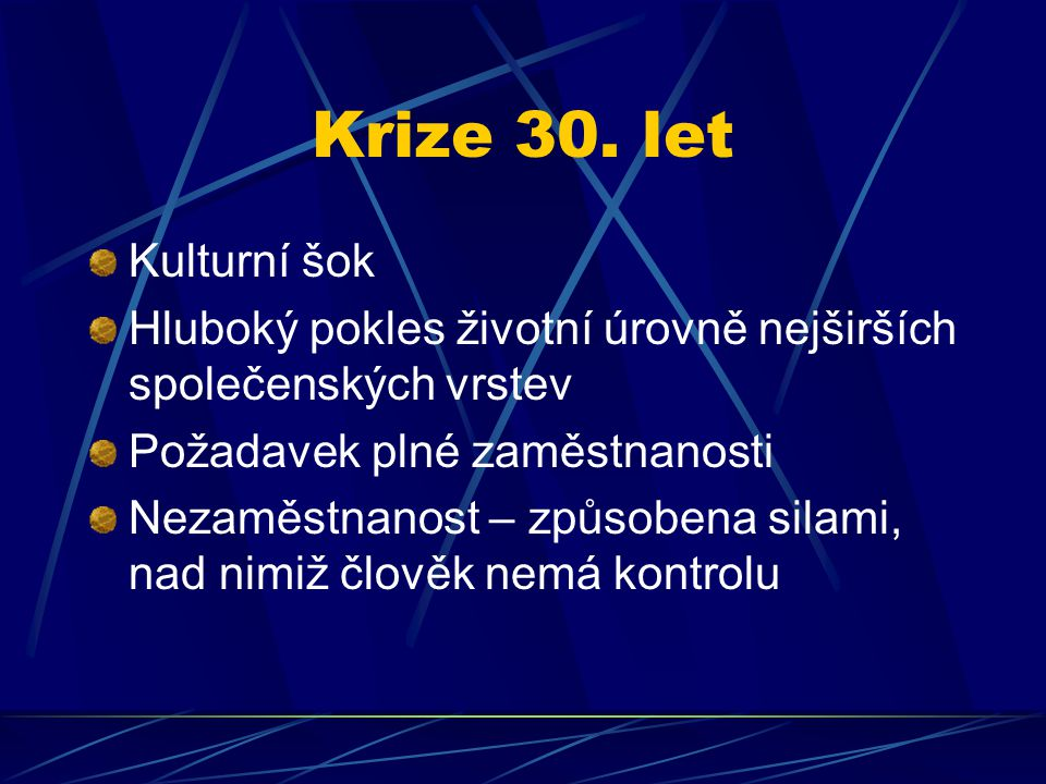 Krize 30.