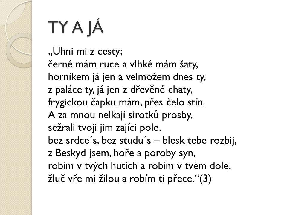 Otázky k textu Jaké protiklady najdete v této básni, popř.