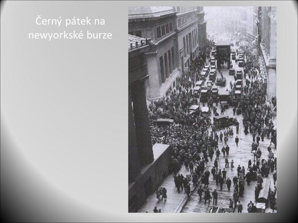 Černý pátek na newyorkské burze