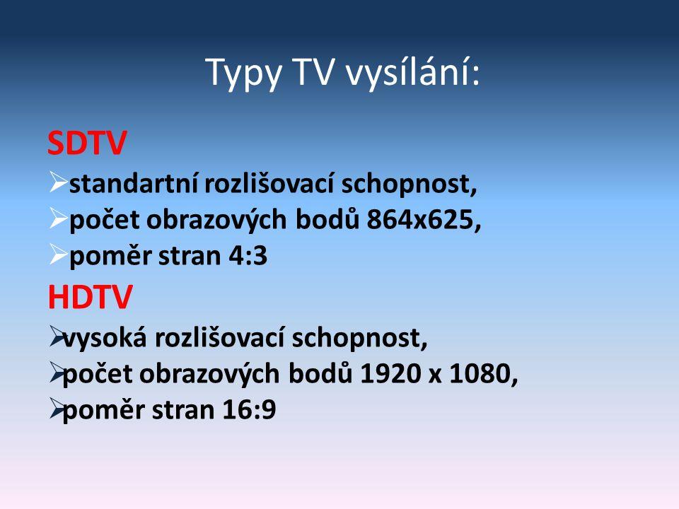 Přenos digitálního TV signálu Výhody digitálního TV příjmu  zvýšení počtu programů  zvýšení kvality TV programů  možnost poskytování doplňkových služeb  možnost vnitřního přenosného příjmu  ušetření nákladů za vysílání  optimální využití kmitočtového spektra s SFN