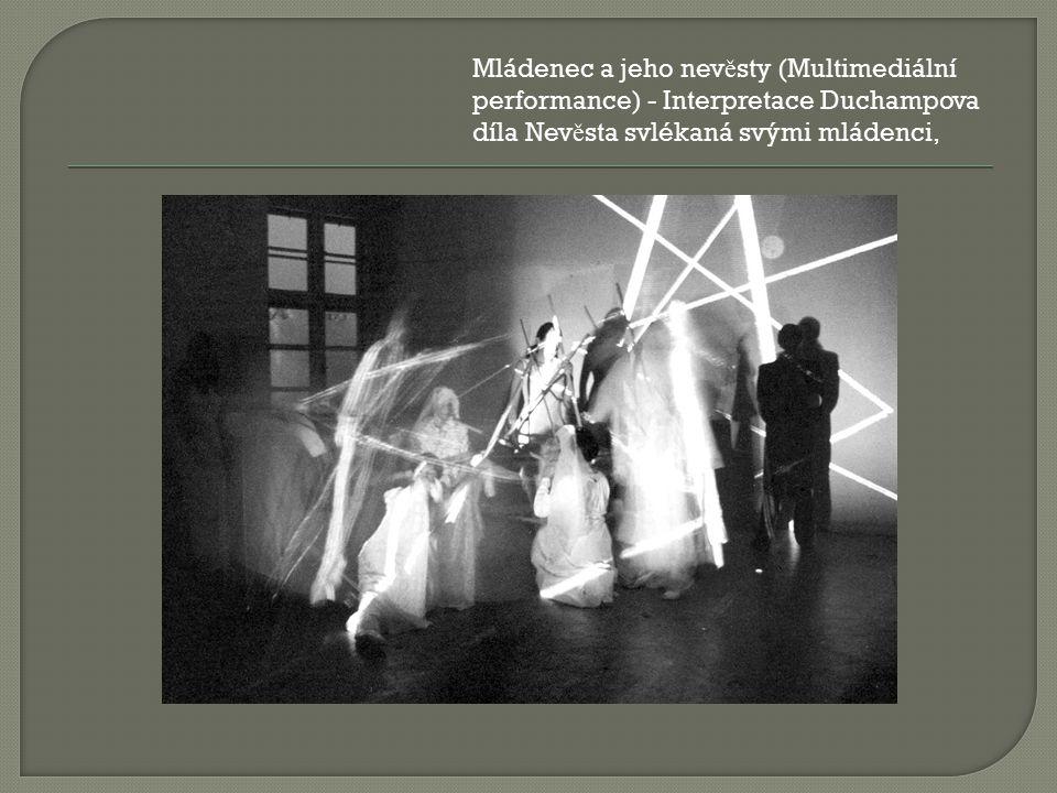 Mládenec a jeho nev ě sty (Multimediální performance) - Interpretace Duchampova díla Nev ě sta svlékaná svými mládenci,