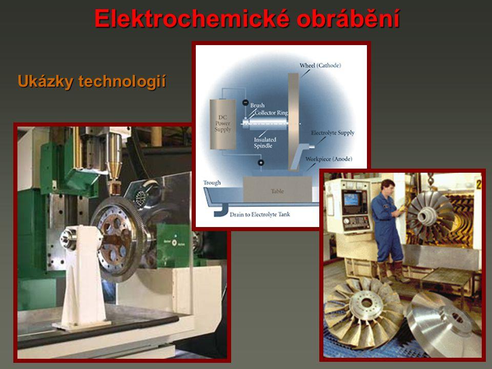 Elektrochemické obrábění Ukázky technologií