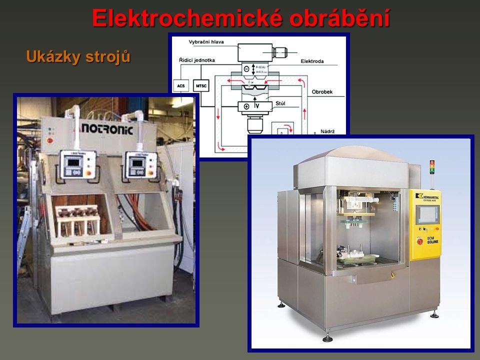 Elektrochemické obrábění Ukázky strojů