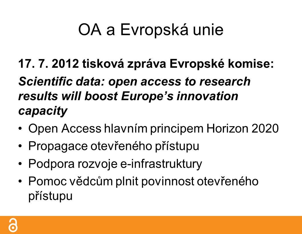 OA a Evropská unie 17. 7.
