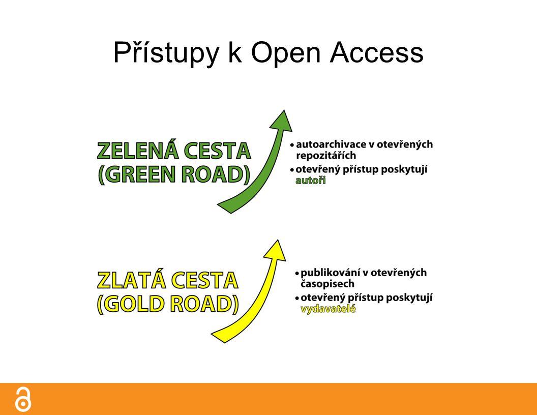 Zlatá cesta open access časopisy Kdo hradí bezplatný přístup pro čtenáře.