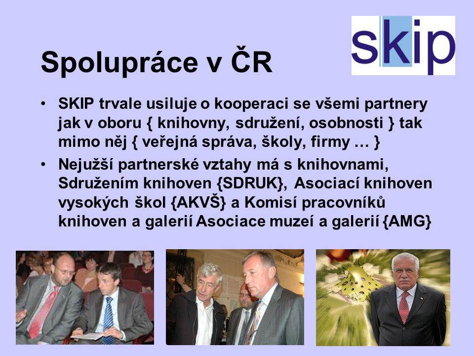 Webové stránky regionů Region Praha - http://skip.nkp.cz/regPra.htm Střední Čechy - http://skip.nkp.cz/regStr.htm Jižní Čechy - http://skip.nkp.cz/regJiz.htm Plzeňský kraj - http://skip04.wz.cz/h!!!ttp://skip04.wz.cz/h!!!ttp://skip04.wz.cz/ Karlovy Vary - /skip.nkp.cz/regKvary.htm Chomutov, Most – nelze najít !!.