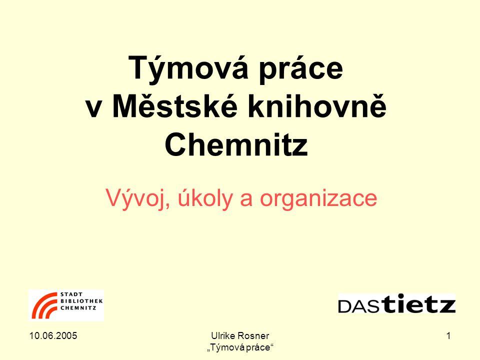 """10.06.2005Ulrike Rosner """"Týmová práce 2 Co se dozvíte ."""