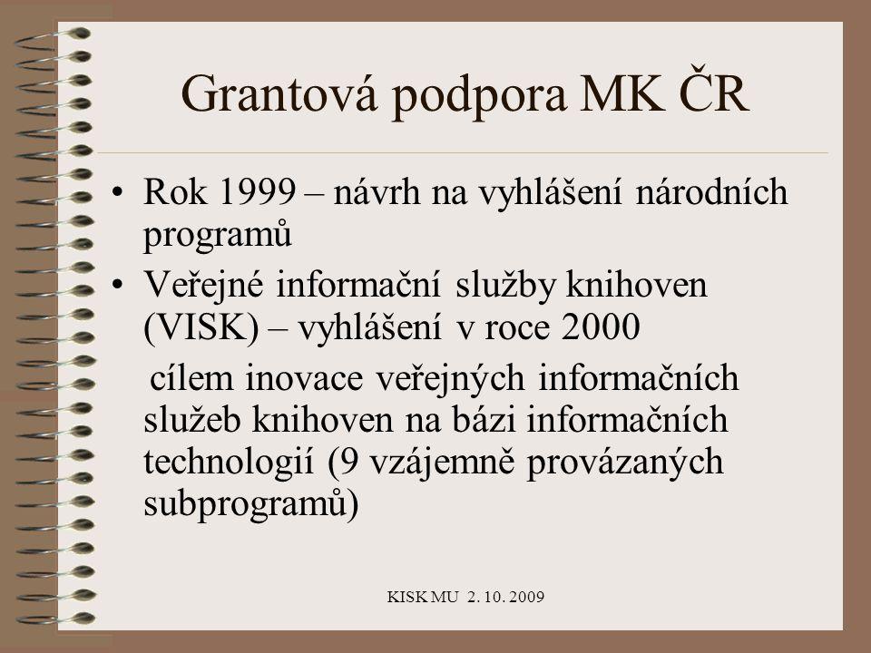 KISK MU 2.10. 2009 A co knihovník.