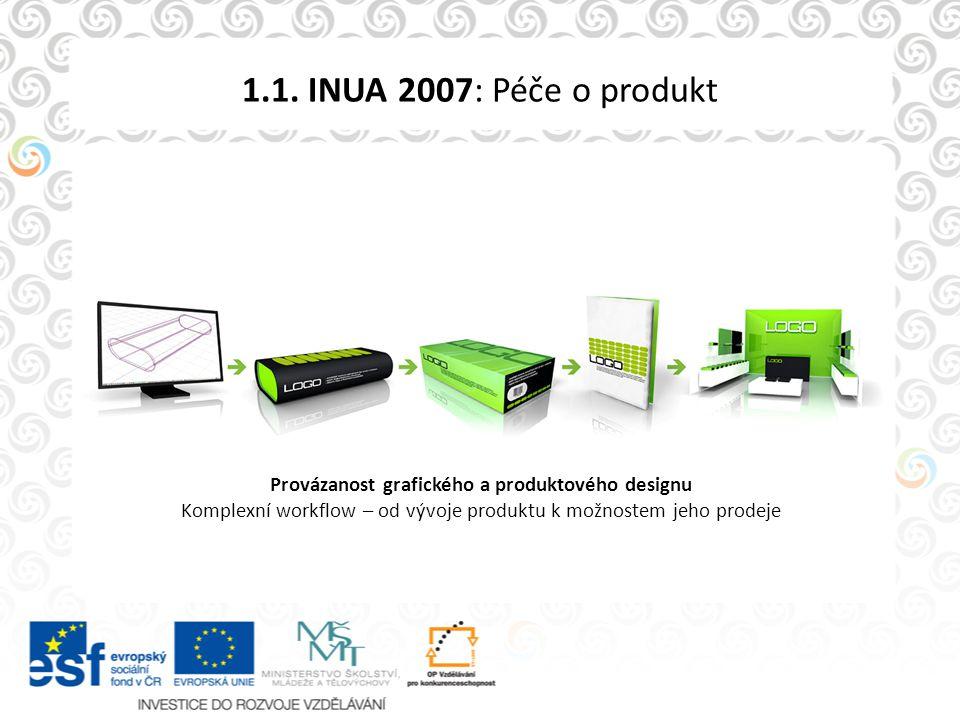 1.1. INUA 2007: Péče o produkt Provázanost grafického a produktového designu Komplexní workflow – od vývoje produktu k možnostem jeho prodeje