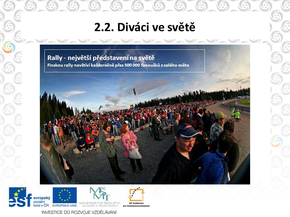 2.2. Diváci ve světě Rally - největší představení na světě Finskou rally navštíví každoročně přes 500 000 fanoušků z celého světa