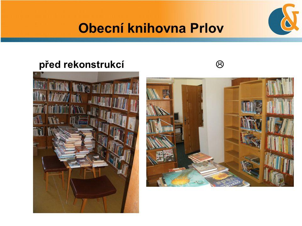 Obecní knihovna Prlov před rekonstrukcí 