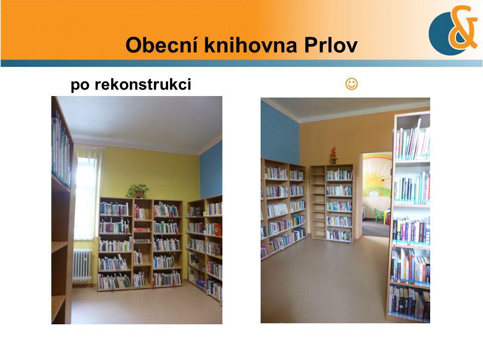 Obecní knihovna Prlov po rekonstrukci