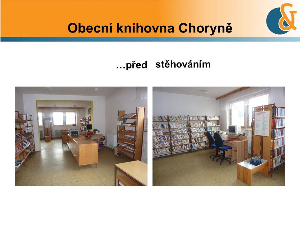 Obecní knihovna Choryně …před stěhováním