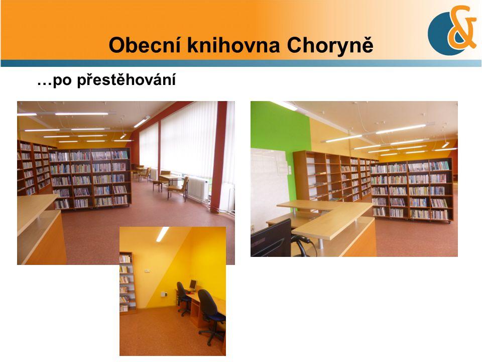 Obecní knihovna Choryně …po přestěhování