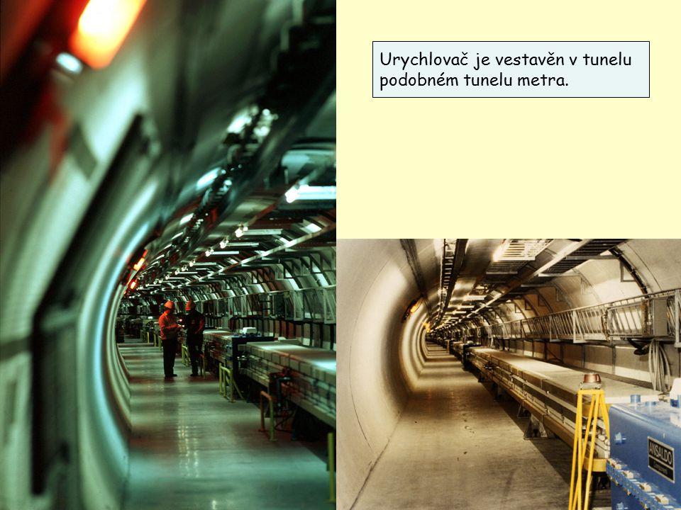 27 Urychlovač je vestavěn v tunelu podobném tunelu metra.