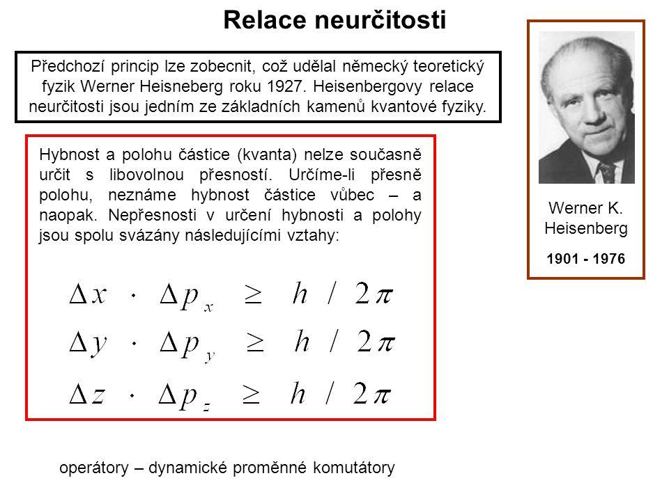 Relace neurčitosti Werner K.