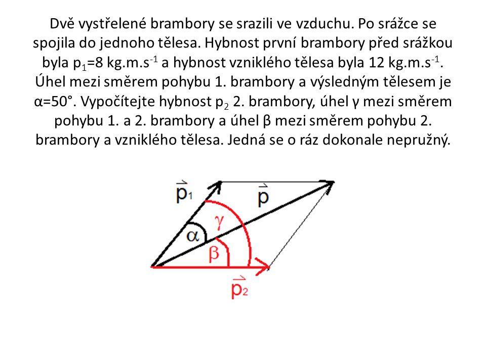 P 1 = 8 kg m s -1 P = 12 kg m s -1 α = 50° P 2 = ? β = ? γ = ?